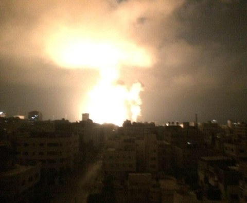 bombardownia Gazy 2014