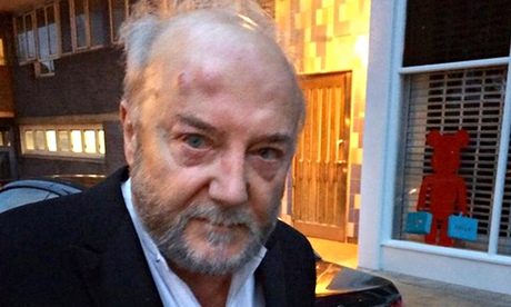 George Galloway w drodze do szpitala