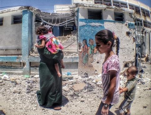 Jabalya school bombarded