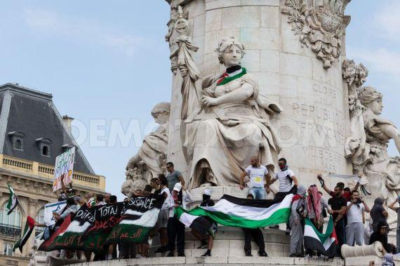 Propalestyńska demonstracja w Paryżu, 26.07.2014