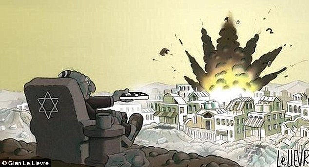 The Sydney Morning Herald has apologised after publishing this cartoon by Glen Le Lievre alongside a column about the conflict in Gaza